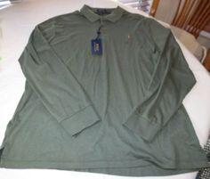 Polo Ralph Lauren Mens long sleeve Polo Shirt XXL xxlarge Classic Fit 784005 #RalphLaurenPolo #poloshirt