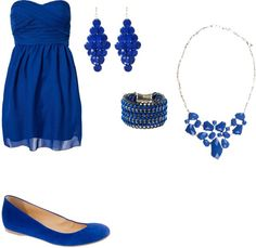 """Pretty Blue"" by anebi on Polyvore"