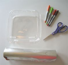"""DIY Shrinky Dinks from #6 plastic. Most clear containers at salad bars or delis are #6 - just look for a """"6"""" inside the recycling arrows."""