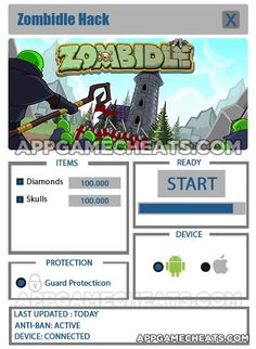 Zombidle Hack & Cheats for Diamonds & Skulls