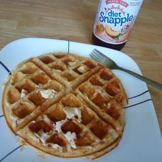 One scoop protein powder, 1 egg, water. Blend and cook on waffle iron The best part of this protein waffle is the butter #keto #lowcarb #diet #healthy #lchf #weightloss #ketofriendly #sugarfree