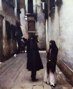 John Singer Sargent, Venetian Street; 1880-1882