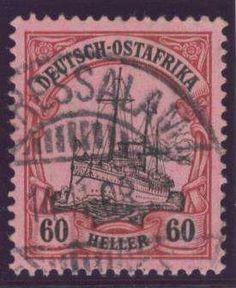German Colonies, DP-Ostafrika 1905/20, 60 H. gest. Pracht, gepr. Bothe BPP (gest., Mi.-Nr.37/Mi.EUR 240,--). Price Estimate (8/2016): 60 EUR.
