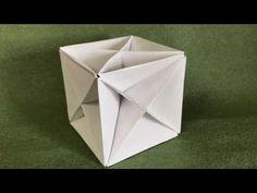 コピー用紙で立方体のスケルトンを折ってみた - YouTube Origami Cube, Origami And Kirigami, Modular Origami, Origami Paper, Paper Art, Paper Crafts, Diy Crafts, Paper Folding Techniques, Origami Videos