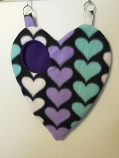 Sweetheart sugar Glider Pouch by VickiesSuggieStuff on Etsy