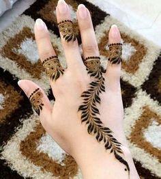 Lovely Arabic Henna Mehndi Design for Hands Beginner Henna Designs, Finger Henna Designs, Mehndi Designs For Girls, Simple Arabic Mehndi Designs, Henna Art Designs, Mehndi Designs 2018, Mehndi Designs For Fingers, Stylish Mehndi Designs, Bridal Mehndi Designs
