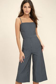Juniors Discount Designer Clothing on Sale at Lulus Striped Jumpsuit ce32b972f