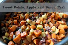 Sweet Potato, Apple, and Bacon Hash for breakfast, brunch, or brinner! #whole30 compliant, low calorie, clean eating! @Nichole Radman Radman C