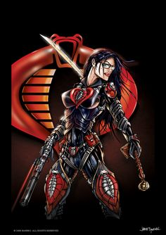GI JOE Baroness cobra by jamietyndall on DeviantArt Comic Book Girl, Comic Book Artists, Comic Books Art, Comic Art, Thundercats, Baroness Gi Joe, Comics Anime, Female Comic Characters, Gi Joe Characters
