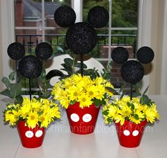 Mickey Mouse Floral Centerpieces
