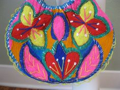 70s little Mexican EMBROIDERED purse by sillyrabbitvintage on Etsy, $12.00