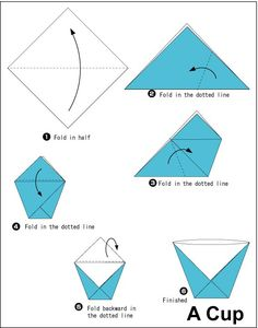 DIY ideas and tutorials - Origami Santa DIY Ideen und Tutorials - Origami Santa Origami Rose, Origami Egg, Paper Crafts Origami, Paper Cup Crafts, Diy Crafts, Origami Design, Origami Instructions For Kids, Kids Origami Easy, Origami Instructions Easy
