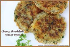 Cheesy Shredded Potato Patties are one of the easiest version for snacks. These are crispy on the outside and fluffy and creamy on the inside. By removing