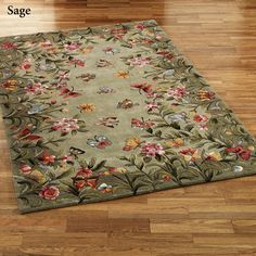 The handcrafted Athena Garden Floral Area Rugs are hand-tufted and handcarved of wool. The fields are filled with blooming flowers and soft butterflies. Floral Area Rugs, Floral Rug, Tapete Floral, Shabby Chic Rug, Round Area Rugs, Classic Furniture, Furniture Makeover, Furniture Ideas, Furniture Removal