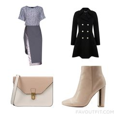 Clothing Tricks With Lattori Dress Double Breasted Military Coat Qupid Ankle Booties And Print Bag From January 2016 #outfit #look