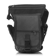 ee08c5f65f9c9 IBTS 600D Nylon Men s Military Tactical Cycling Waist Belt Pack (Black)
