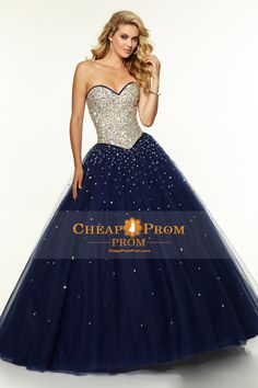 glitter ball gown prom dresses in blues - Google Search