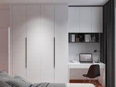 New Bedroom Desk Decor Closet Ideas Bedroom Built In Wardrobe, Bedroom Closet Design, Bedroom Desk, Home Room Design, Home Office Design, Bedroom Furniture, Furniture Design, Furniture Ideas, Bedroom Cupboard Designs