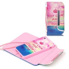 Housse + Coque amovible iPhone 5c - Keep Calm and Live your Life