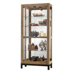 Quinn Curio Cabinet in Natural | Nebraska Furniture Mart