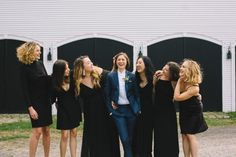 This same-sex wedding at Clark's Cove Farm and Inn features autumnal apple orchard vibes, rustic DIY projects, and two amazing bridal styles. Wedding Bells, Our Wedding, Wedding Ideas, Wedding Styles, Wedding Photos, Rustic Wedding Venues, Lesbian Wedding, Girls In Love, Wedding Attire