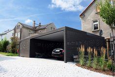 Design metall carport aus stahl holz blech glas individuell
