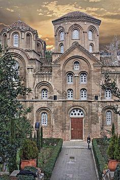 Church of Saint George, Thessaloniki city, Macedonia, Greece Turkish Architecture, Byzantine Architecture, Church Architecture, Byzantine Icons, Byzantine Art, Macedonia Greece, Roman Church, Southern Europe, Church Design