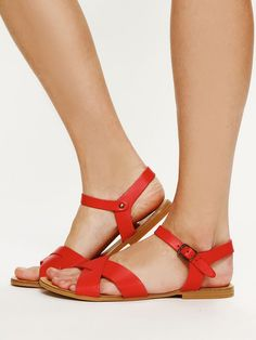 Free People Avalon Sandal, I want these in every color... but red will do to start please
