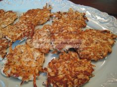 """We low-carbers know you can't eat white potatoes on a low-carb plan. However you can get creative with jicama and other vegetables and get that potato taste when fried. These """"potato"""" cakes stay . Low Carb Keto, Low Carb Recipes, Cooking Recipes, Healthy Recipes, Primal Recipes, Veggie Recipes, Fish Recipes, Yummy Recipes, Healthy Cooking"""