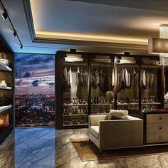 """3,693 Likes, 209 Comments - Modern Mansions (@modernmansions) on Instagram: """"Worlds best closet? #ModernMansions"""""""