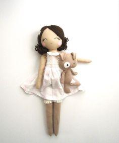 Original Mend Doll handmade custom dolls by MendbyRubyGrace Doll Sewing Patterns, Sewing Dolls, Doll Crafts, Diy Doll, Vintage Rag Doll, Homemade Dolls, Plush Dolls, Rag Dolls, Cute Toys