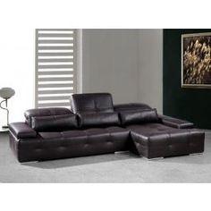Sorrento Modern Chocolate Brown Sectional Sofa