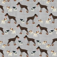 Dogs fabric by sarah_treu on Spoonflower - custom fabric