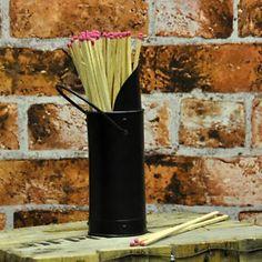Black Metal Fireside Matches & Match Holder Fire Place Tools | eBay Beauty Inside, Hearth, Black Metal, Lounge, Fire, Tools, Ebay, Log Burner, Airport Lounge