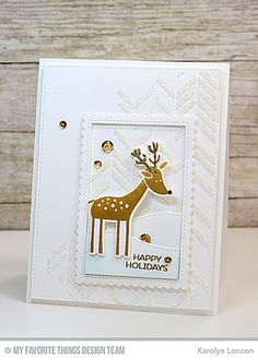 """This sweet little stamp set includes a three adorable fawns and will be perfect for sending cards to all those who are """"deer"""" to you! The adorable deer themed sentiments pair perfectly with the images. Use the included flower, leaves and gift for maki Dyi Christmas Cards, Christmas Deer, Christmas Wishes, Handmade Christmas, Holiday Cards, Christmas 2016, White Christmas, Holiday Ideas, Friends Set"""