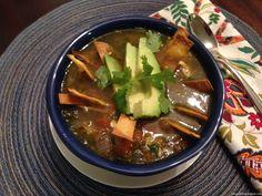 Chicken Tortilla Soup #glutenfree #caseinfree - The Weekly Menu http://theweeklymenubook.com/2015/05/27/chicken-tortilla-soup/