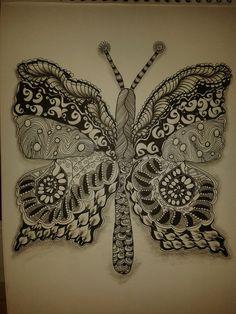 Zentangle Butterfly Schmetterling