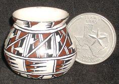 Miniature Southwest Native American Indian Gloria Bogulas Pot 1:12 #8900 Artist #GloriaBogulas