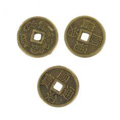 Intercalaires pièces chinoises 10 mm bronze x25