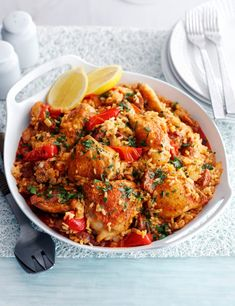 Try our Spanish rice with chicken and chorizo. This easy baked Spanish chicken dish is an easy paella dish with chorizo. Make our easy chicken paella recipe Chicken And Spanish Rice, Spanish Rice Recipe, Chicken Rice, Chicken Chorizo, Spanish Food, Spanish Recipes, Baked Chicken, Spanish Party, Spanish Tapas