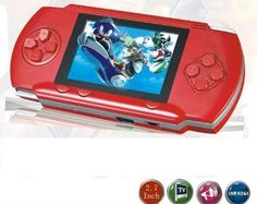 "WolVol DARK RED 2.8"" LCD #PortableGame Console With AV-Out And TONS of Built-In Games, Game Disk Included - Best Gift for Kids"