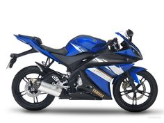 YAMAHA R125 blue bike