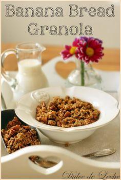 "Dulce de Leche: Domáca ""Banana Bread"" granola"