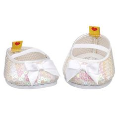 Build-A-Bear Workshop-United Kingdom: White Sequined Flats