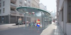 Famous characters appear in Madame Mohr's concept for new Vienna subway stations Round Building, Chandelier Fan, Urban Furniture, Lighting Online, Madame, Science And Nature, Amazing Architecture, Film, Vienna