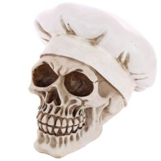 Shop today for Gothic Skull Decoration wearing Chefs Hat by weeabootique !