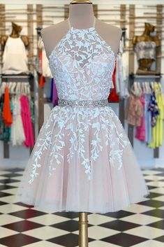 A-Linie Pink Applique Short Prom Kleid Heimkehr Kleid A-line Pink Applique Kurzes Abendkleid Homecoming Dress – selinadress Champagne Homecoming Dresses, Cute Prom Dresses, Event Dresses, Sexy Dresses, Summer Dresses, Pretty Dresses For Teens, Dress Prom, Wedding Dresses, Party Dresses