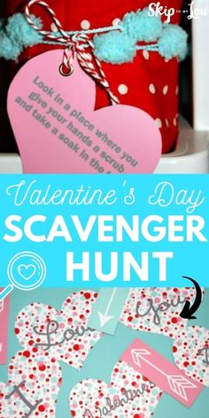 Valentine's Day Scavenger Hunt | Skip To My Lou Fun Valentines Day Ideas, Valentine Day Crafts, Craft Activities For Kids, Crafts For Kids, Diy Projects, Invitations, My Favorite Things, Diy Party, Gifts