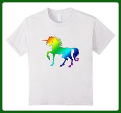Kids Rainbow Unicorn T-Shirt 6 White - Fantasy sci fi shirts (*Amazon Partner-Link)