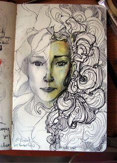 fuckyeahmoleskines: My sight of Annie Clark (St Vincent). she's the bomb http://kunstdotamarindo.tumblr.com/
